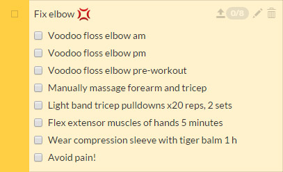 habitrpg, elbow rehabilitation